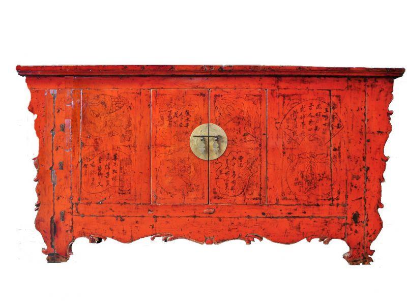 weinschrank weinbar holz aus china mit malereien. Black Bedroom Furniture Sets. Home Design Ideas